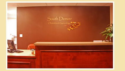South Denver Obsterics and Gynecology Office Photo, waiting room photo and original logo